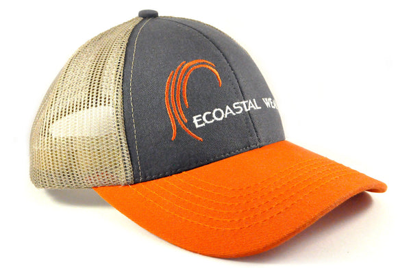 100% Made in the USA Low Profile Trucker Hat - Ecoastal Wear - American Made Apparel and Eco-Friendly Accessories