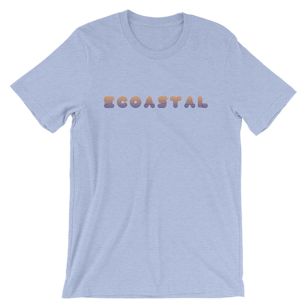 Retro Ecoastal Short-Sleeve Unisex T-Shirt - Ecoastal Wear - American Made Apparel and Eco-Friendly Accessories