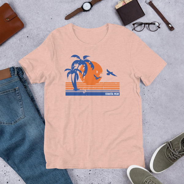 Ecoastal Sunset Short-Sleeve Unisex T-Shirt - Ecoastal Wear - American Made Apparel and Eco-Friendly Accessories