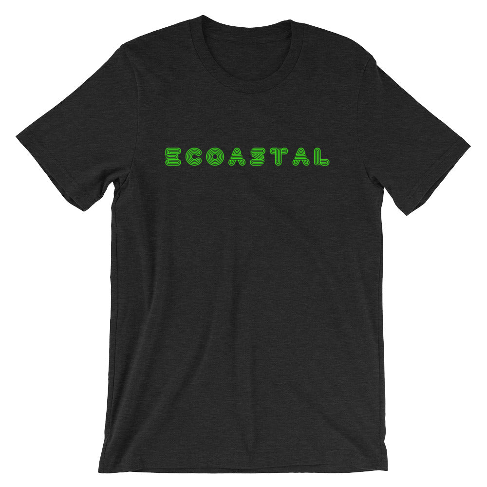 Lime Green Ecoastal Retro Short-Sleeve Unisex T-Shirt - Ecoastal Wear - American Made Apparel and Eco-Friendly Accessories