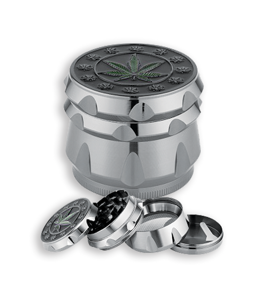 Cannabis Leaf 4Pc Metal Grinder