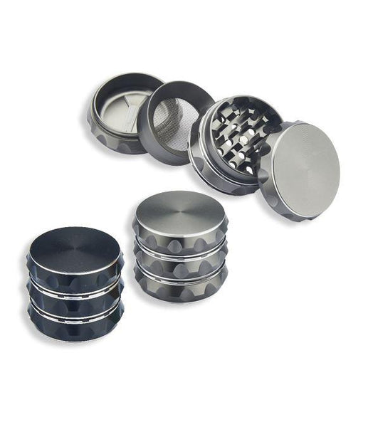 4Pc Aluminium Grinder Assorted