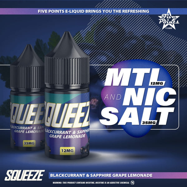 Blackcurrant Sapphire Grape Lemonade Salt Nic and MTL