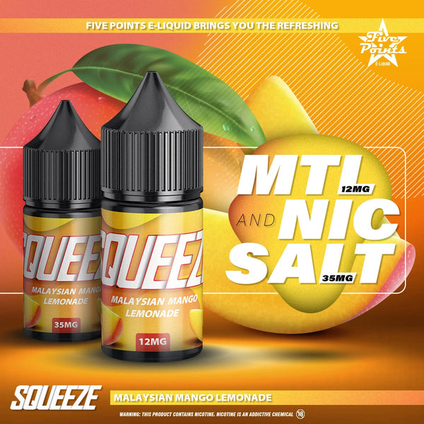 Malaysian Mango Lemonade Salt Nic and MTL