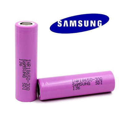 Samsung 30Q 3000mAh 15A 18560 Battery - Vapers Creed
