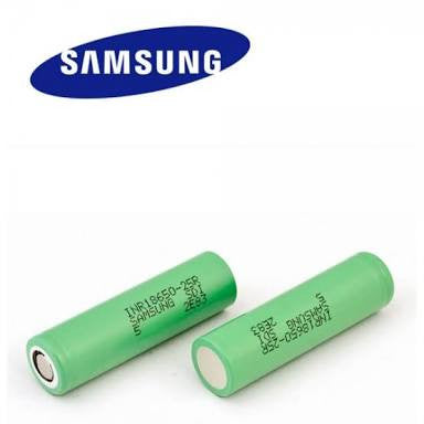 Samsung 25R 2500mAh 20A 18650 Battery - Vapers Creed