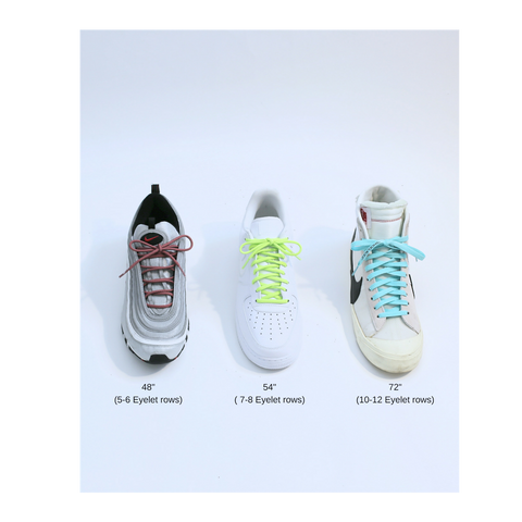 How to choose the proper shoe lace length for your sneakers.