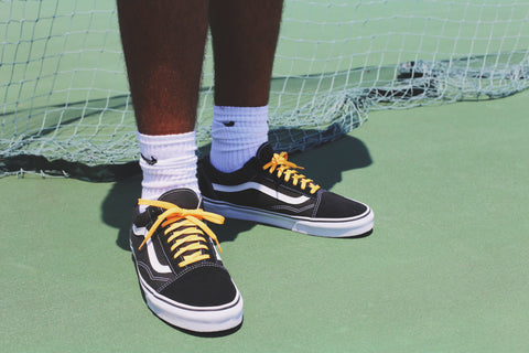 vans yellow shoe laces
