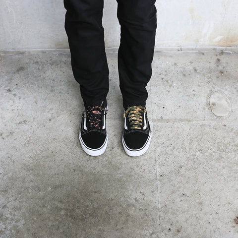 bleached shoe laces vans old skool