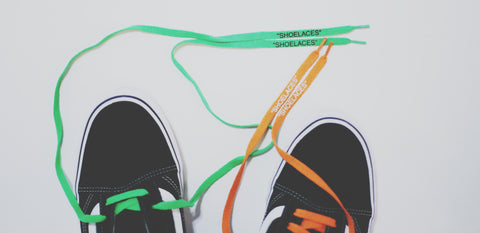 off white shoe laces