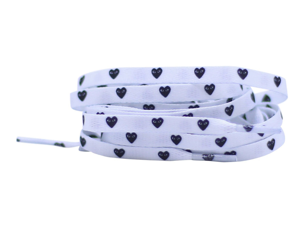 CDG heart shoe laces