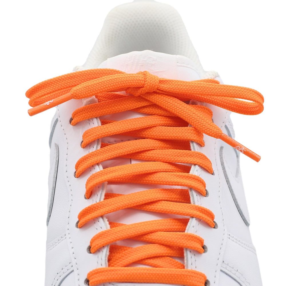 flat orange shoe laces