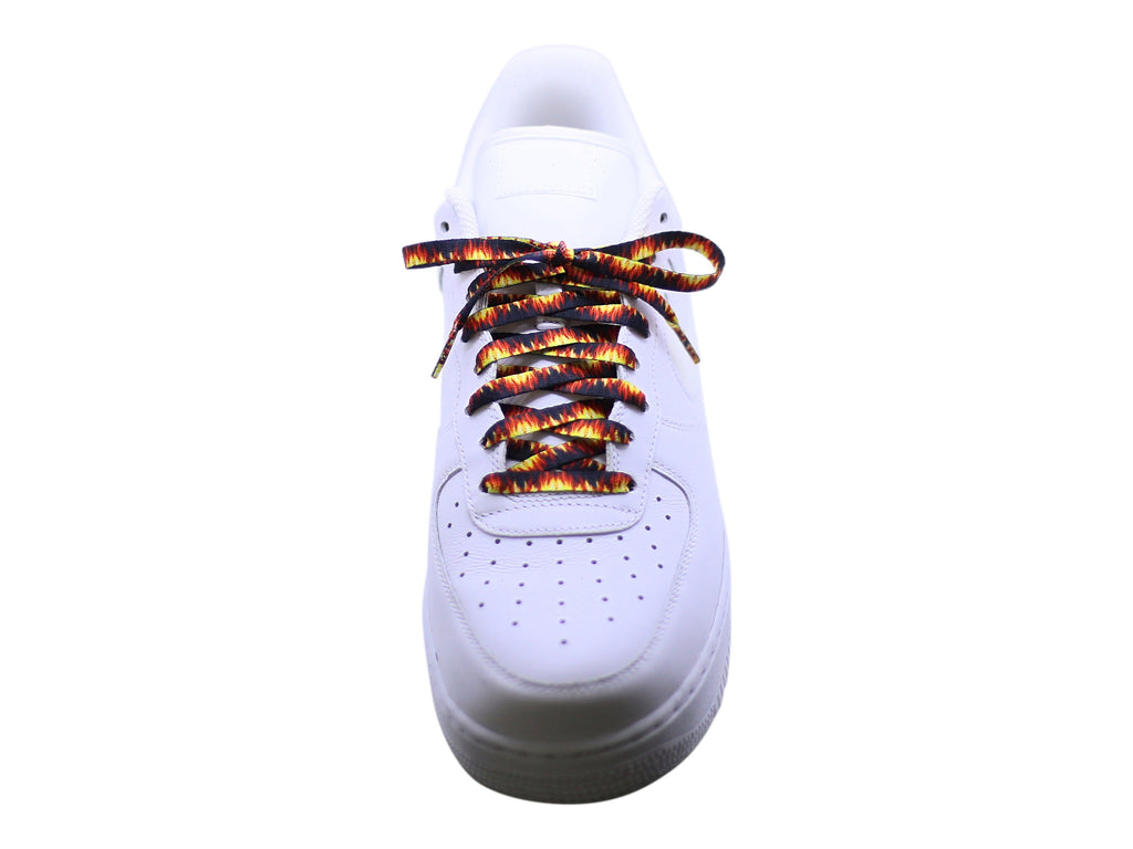 Flat Flame Print Shoe Laces