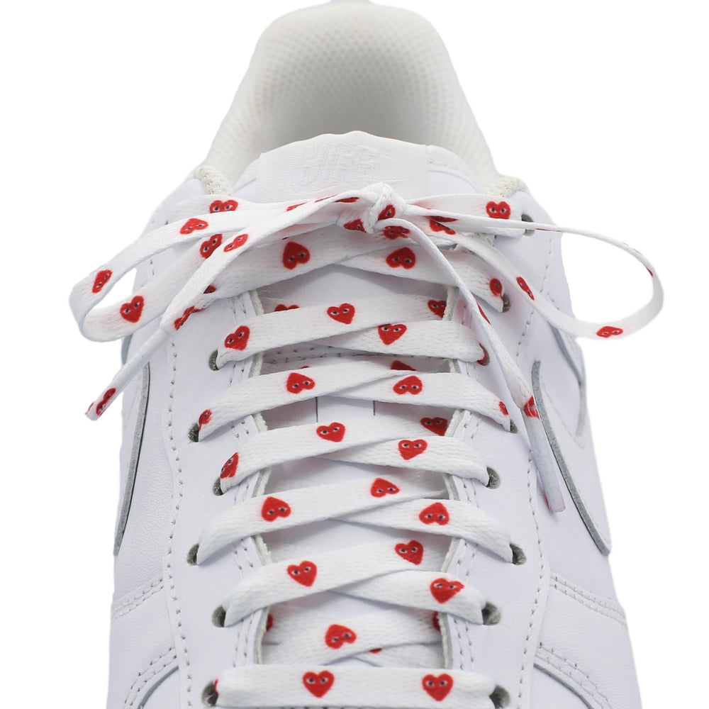 Flat Printed Laces - CDG Hearts