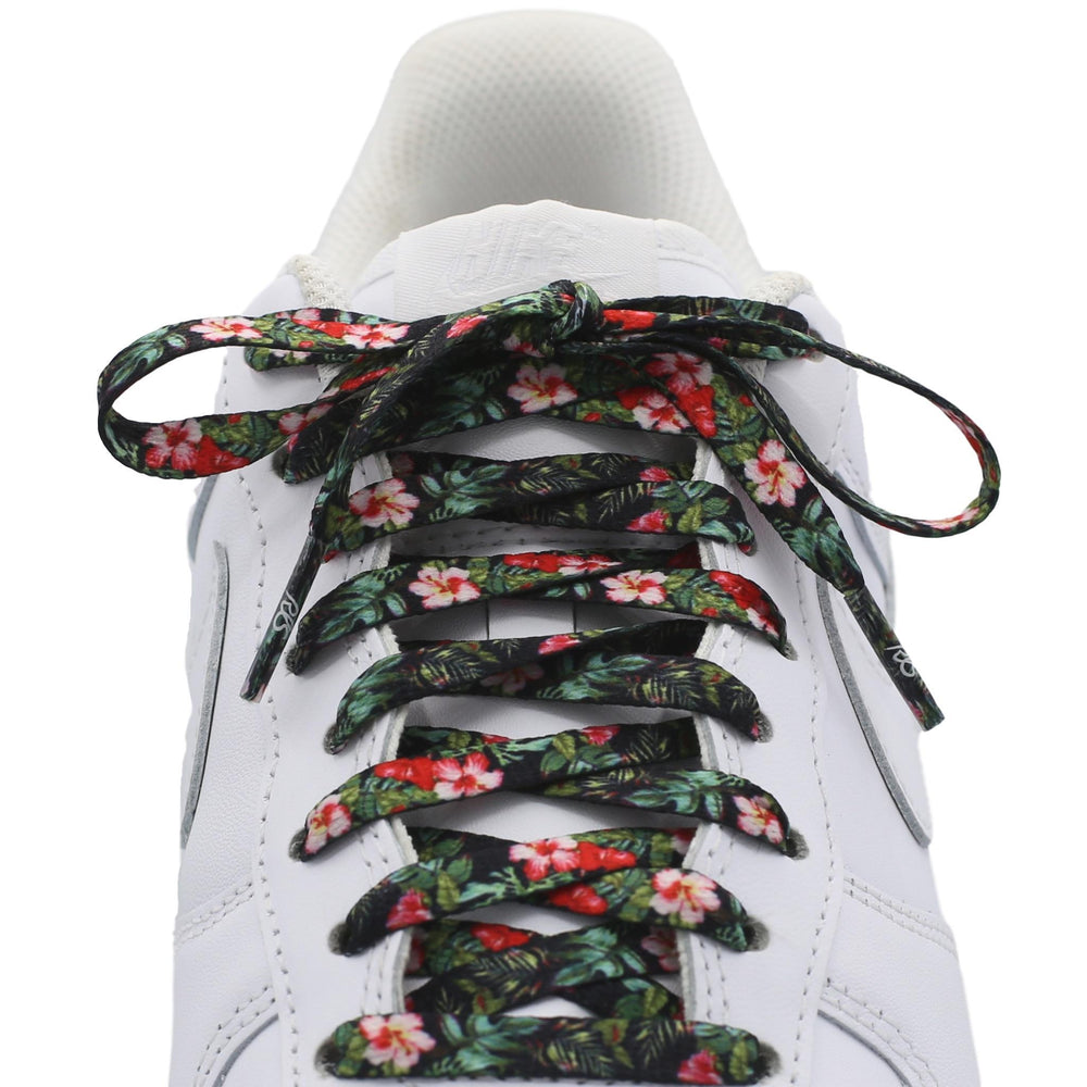 Flat Printed Shoe Laces - Floral