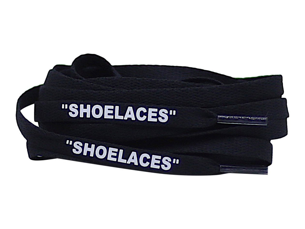 off white black shoe laces