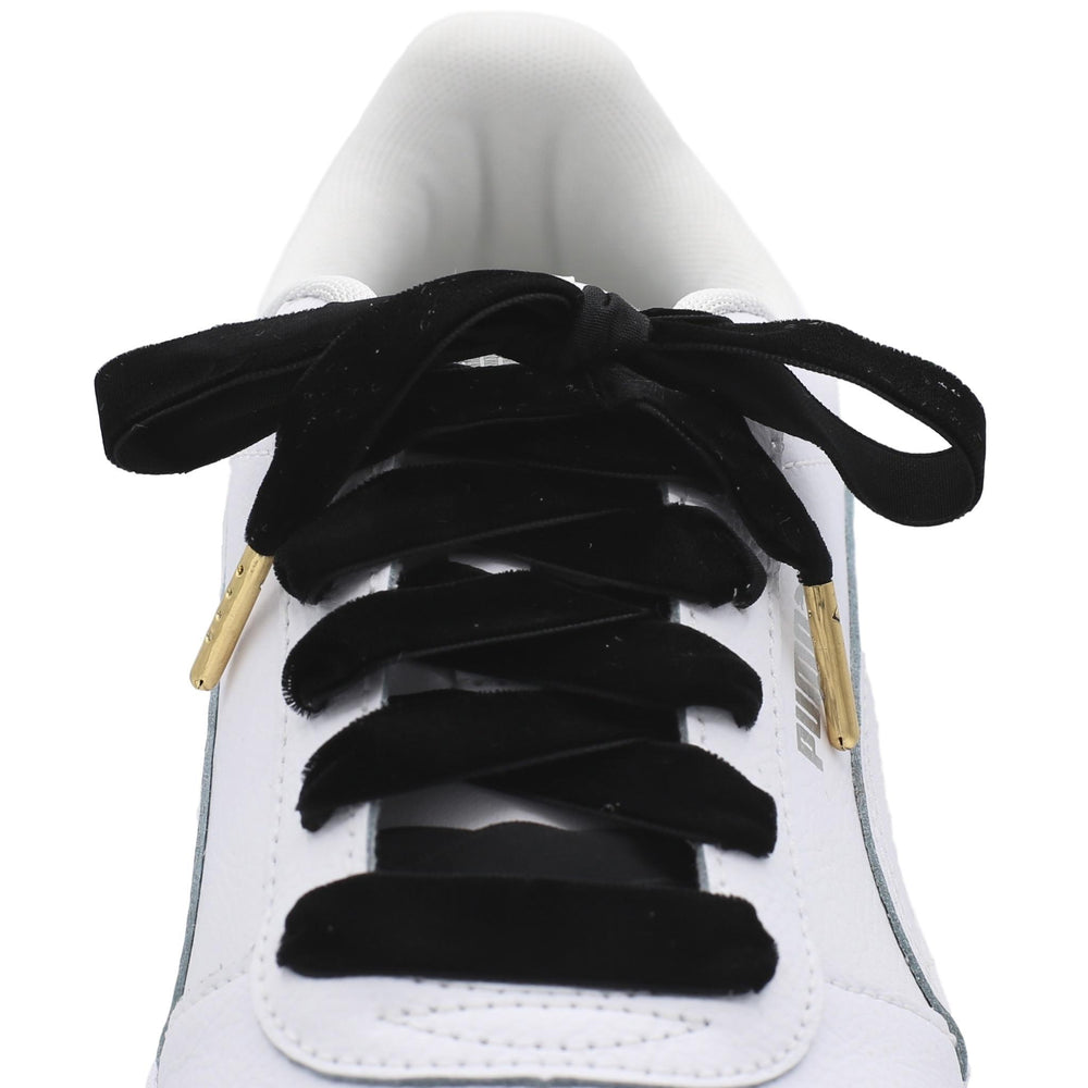Flat Velvet Shoe Laces - Metal Tips