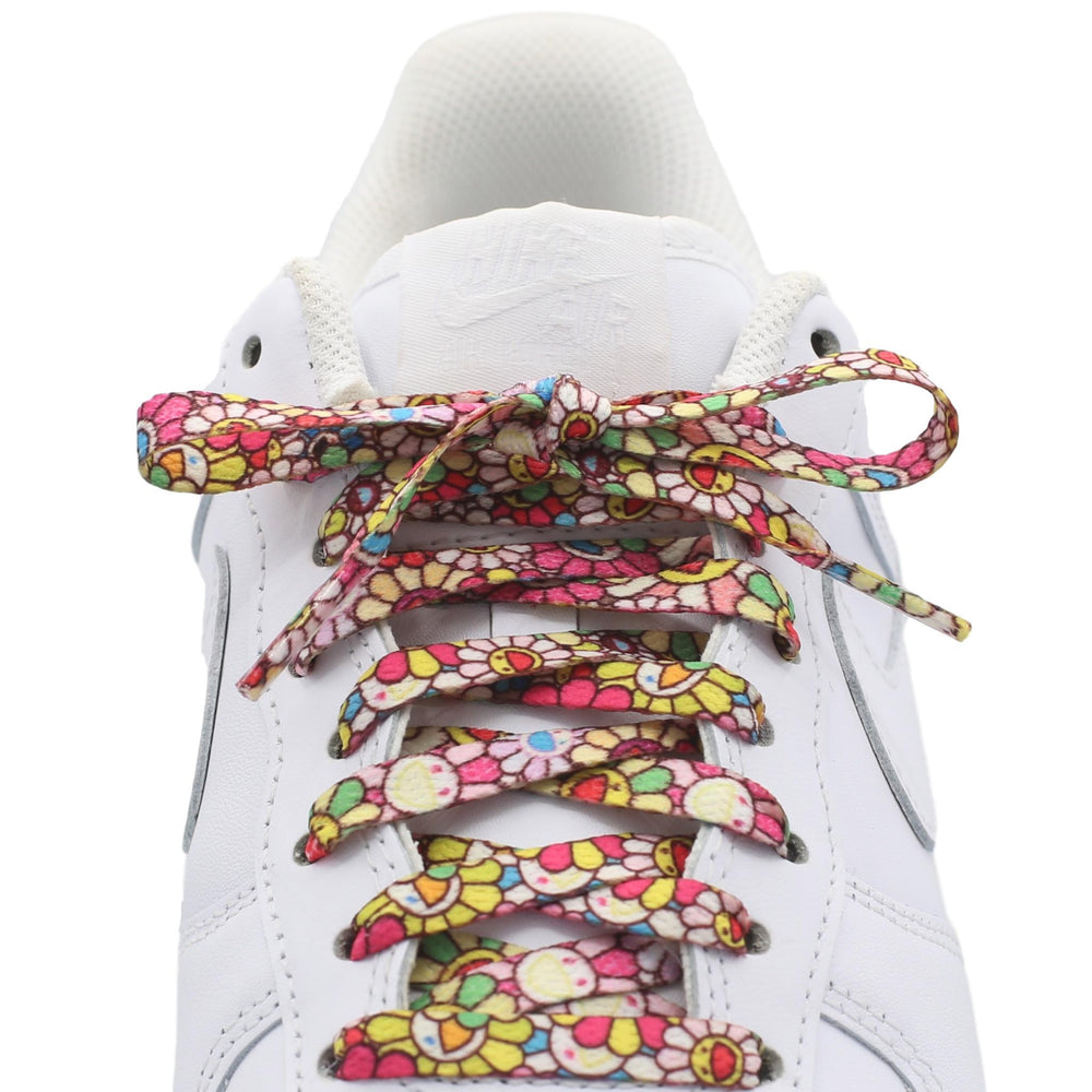 Flat Printed Shoe Laces - Murakami Style