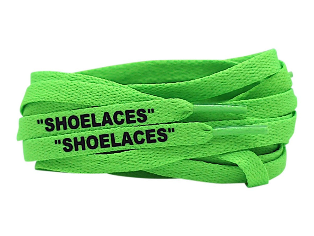 off white green shoe laces