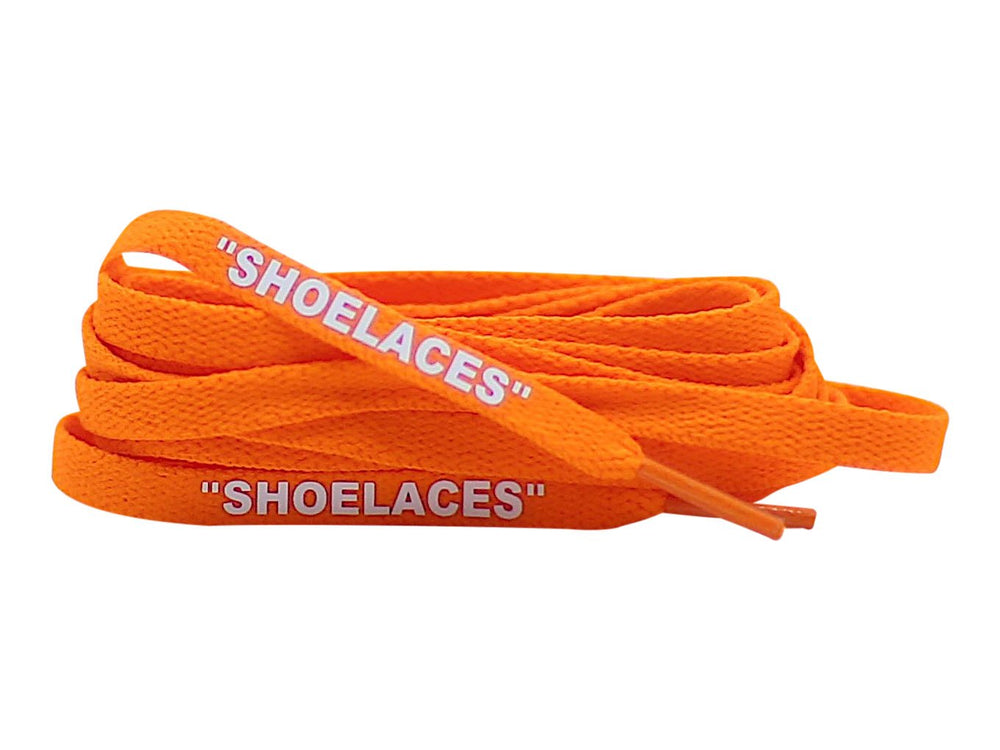 off white orange shoe laces