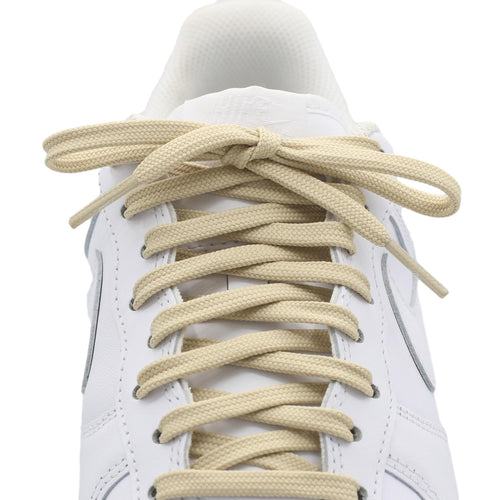 flat cream shoe laces
