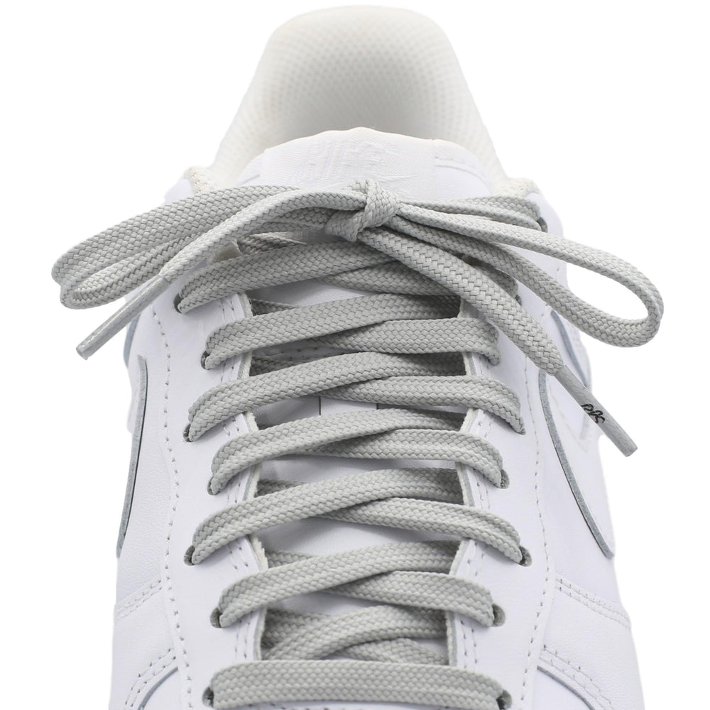 flat gray shoe laces