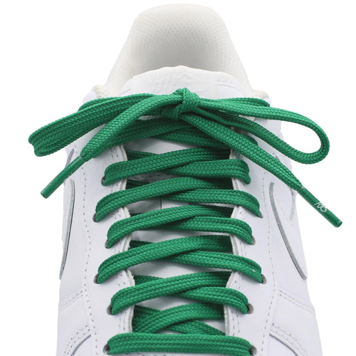 flat green shoe laces