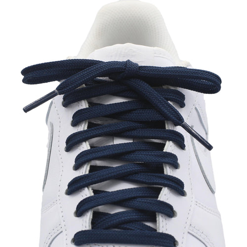flat navy shoe laces