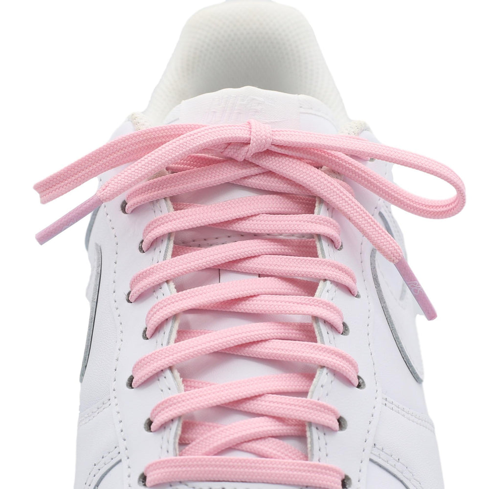 flat light pink shoe laces