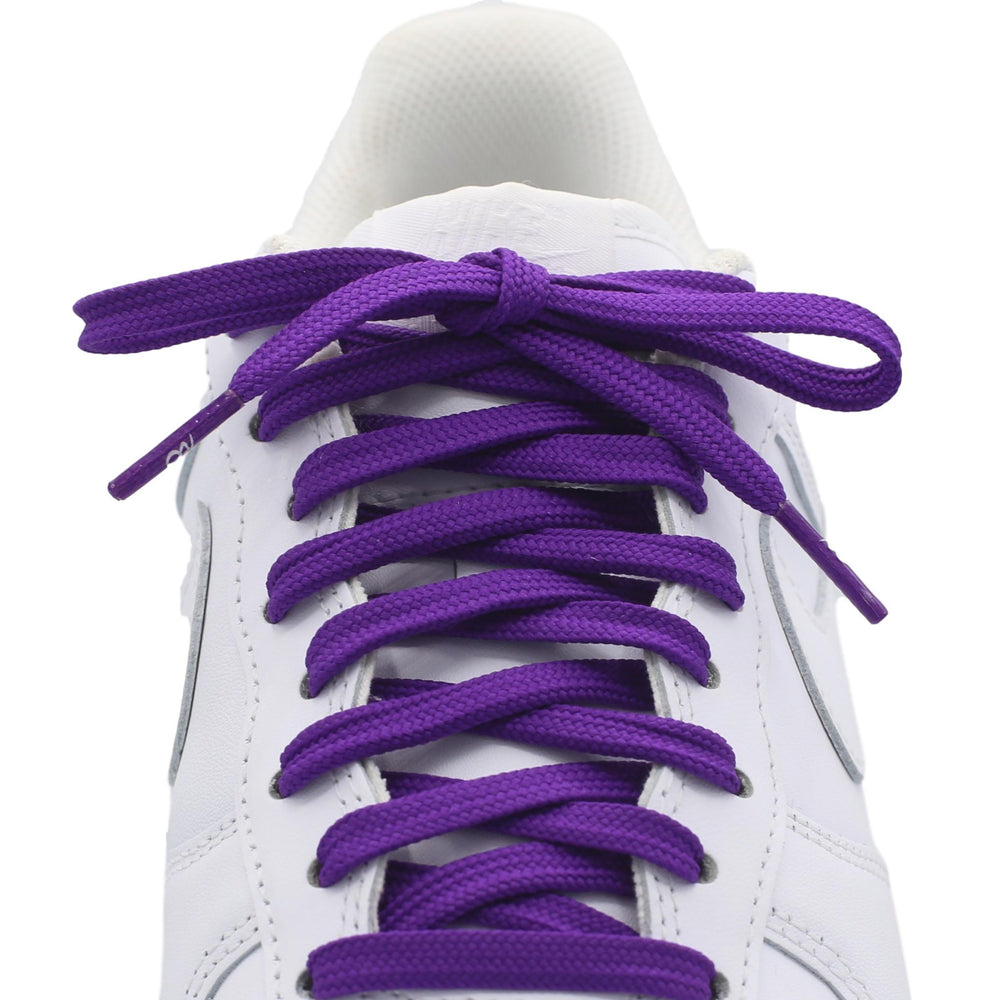 flat purple shoe laces