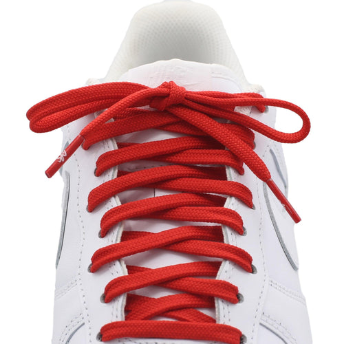 flat red shoe laces