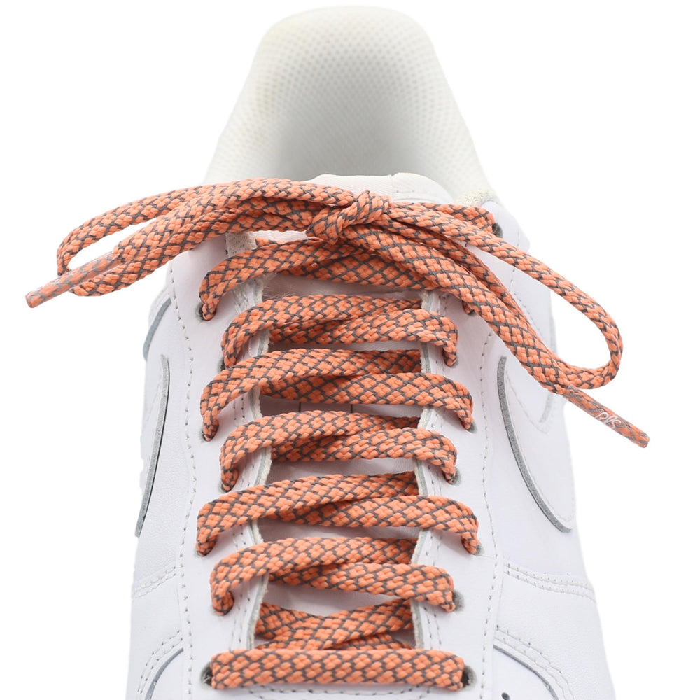 flat 3m salmon reflective laces