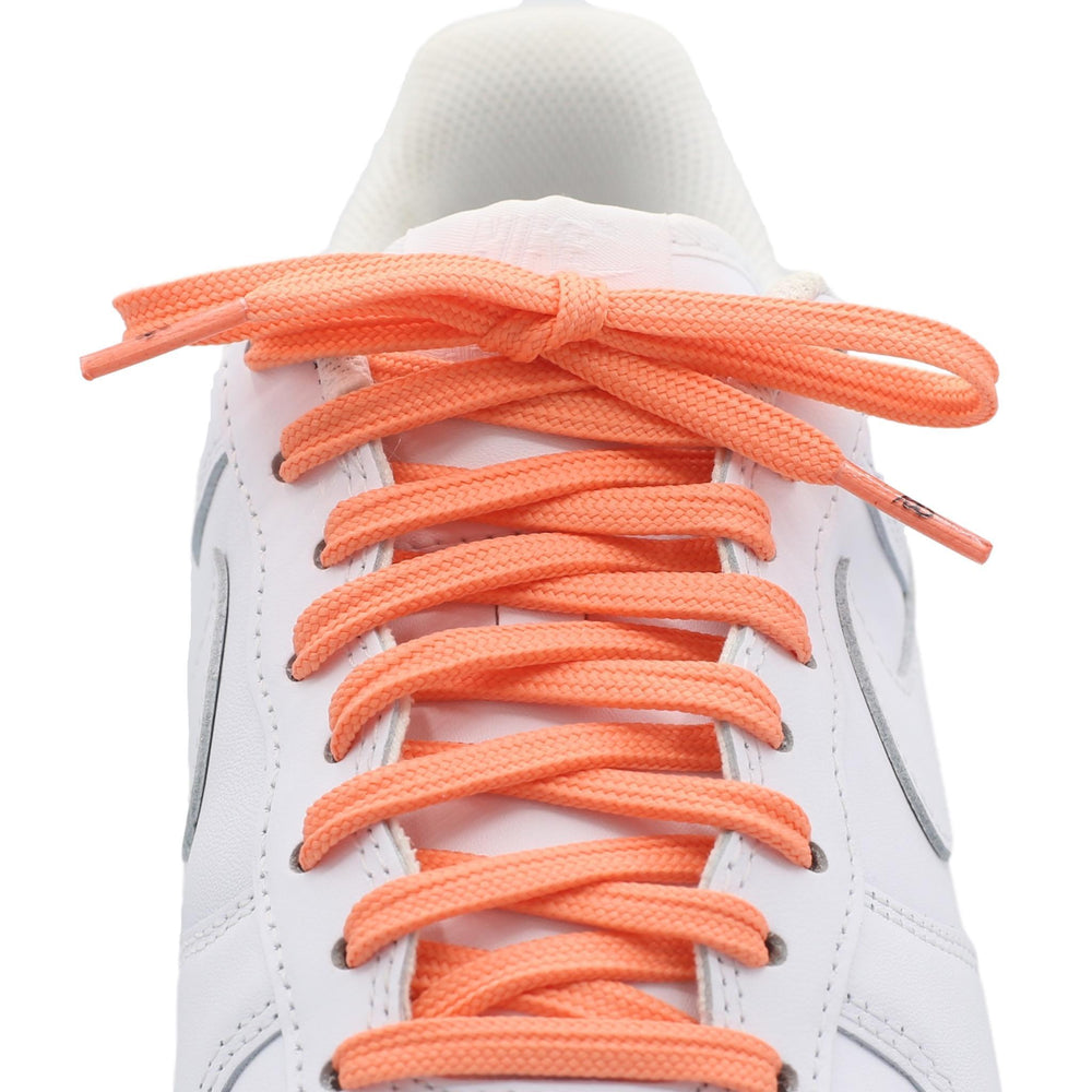 flat salmon shoe laces