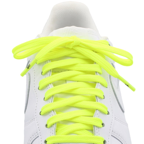 flat neon volt neon yellow shoe laces