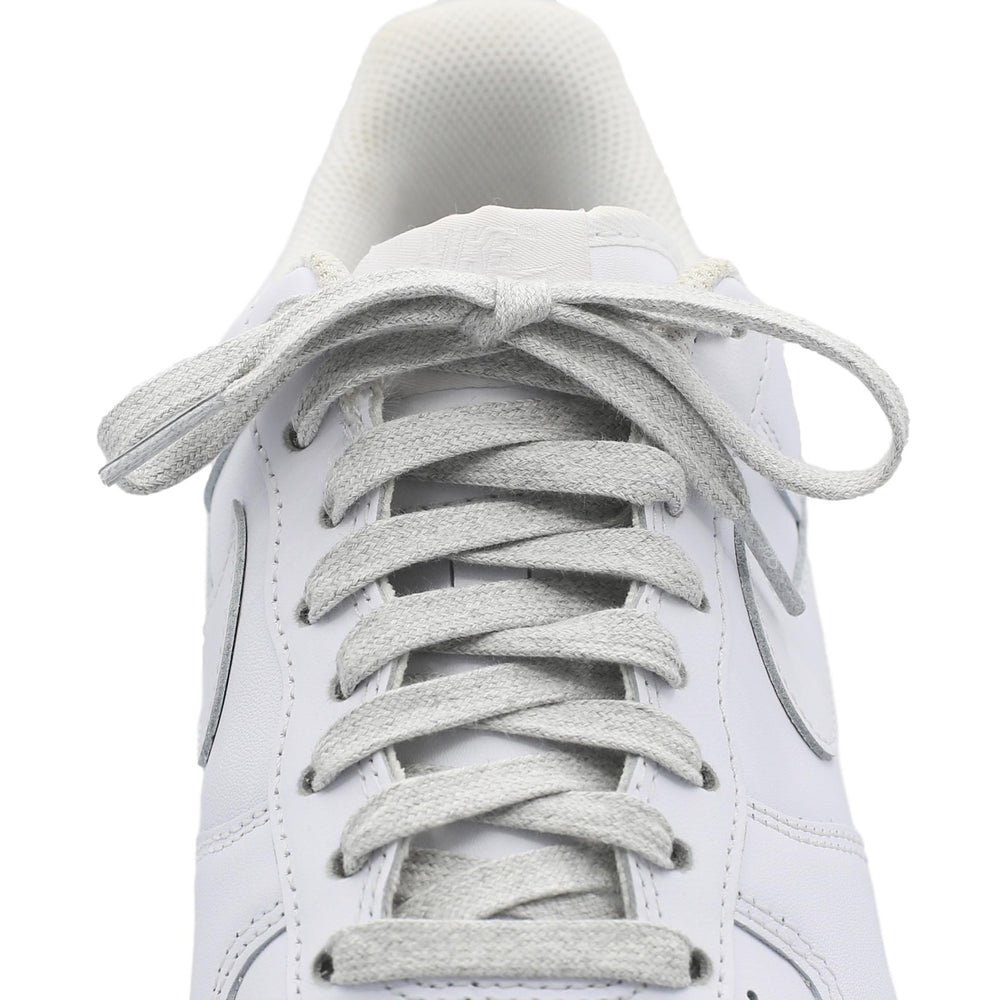 heather grey cotton shoe laces