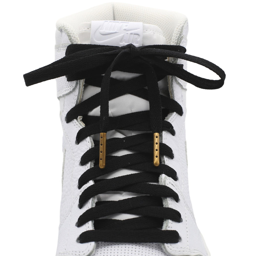 Flat Jordan Replacement Laces - Metallic Chrome Tips