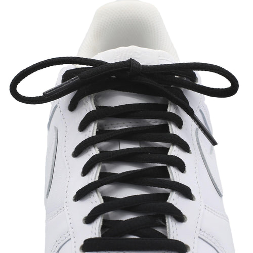 oval black shoe laces