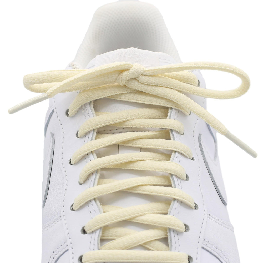 cream oval shoe laces