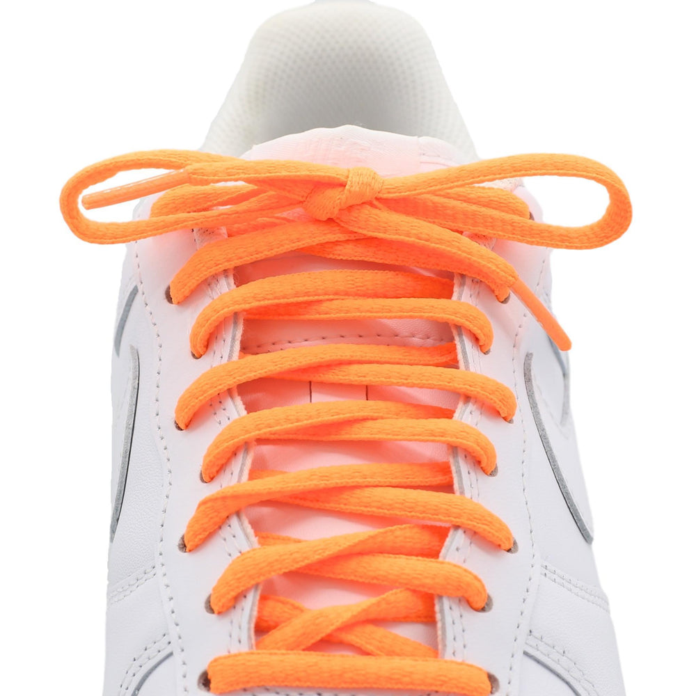 neon orange oval shoe laces
