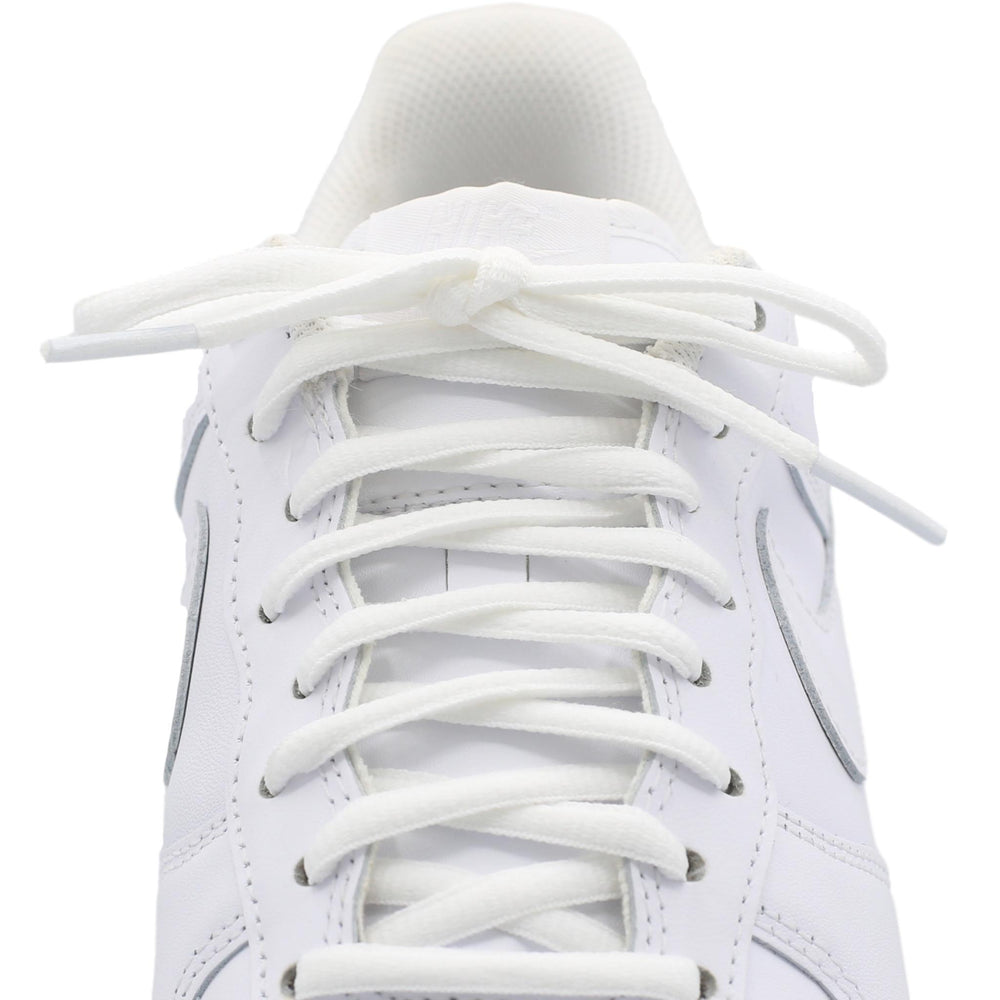 white oval shoe laces