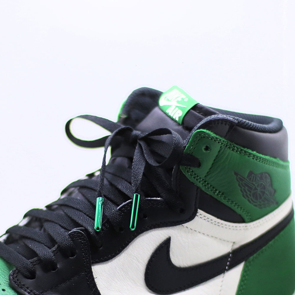 Pine Green Metal Tipped Air Jordan Shoe Laces
