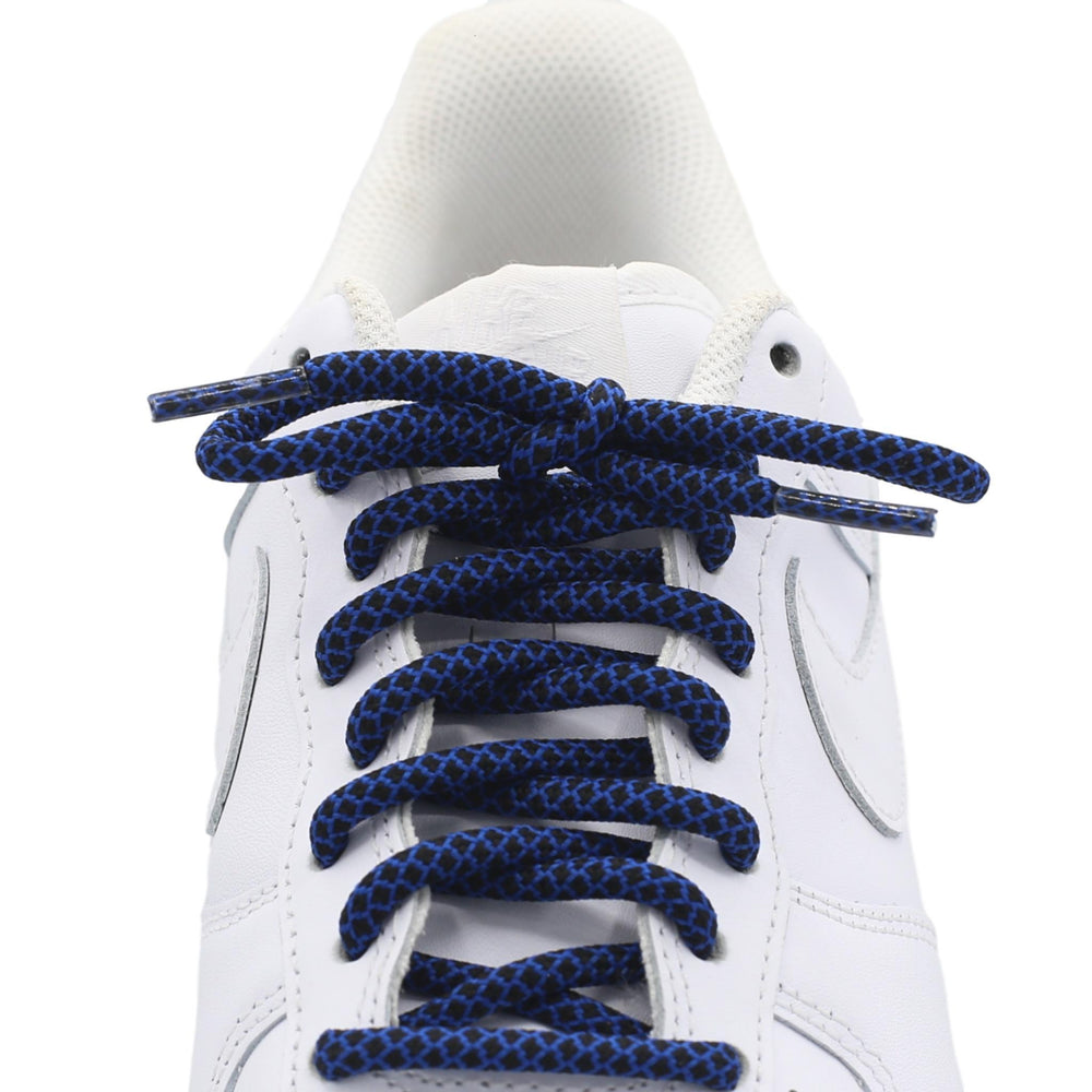 blue black round quality shoe laces