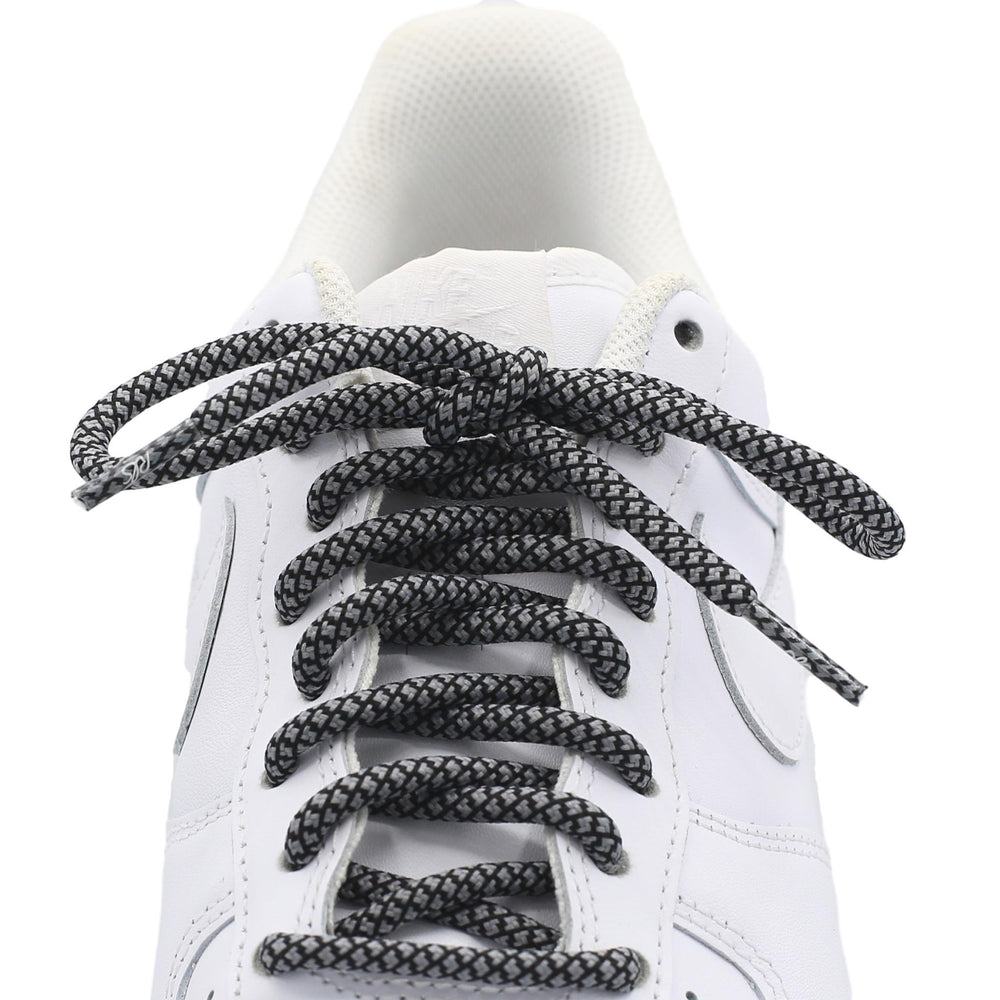 gray black round quality shoe laces
