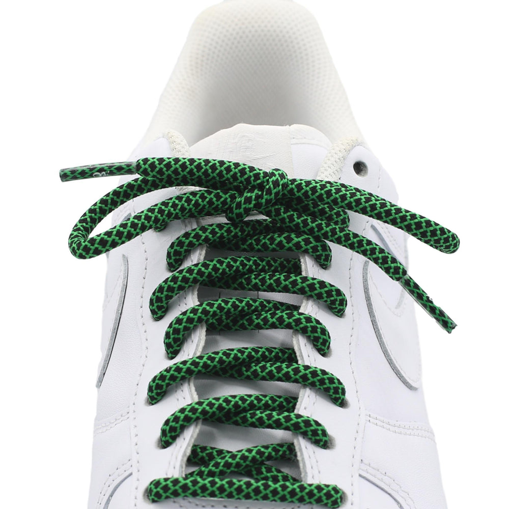 green black round quality shoe laces