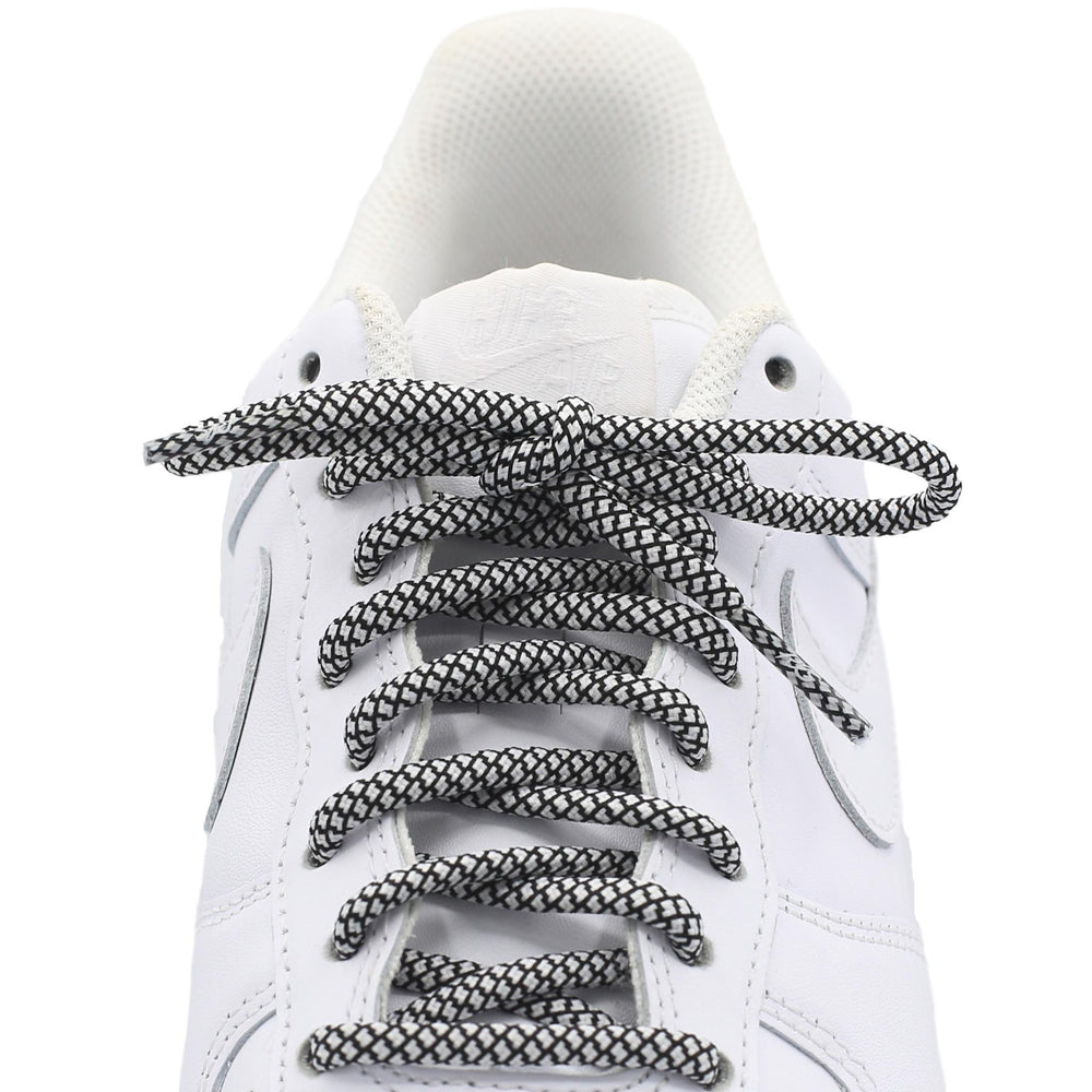 white black round quality shoe laces