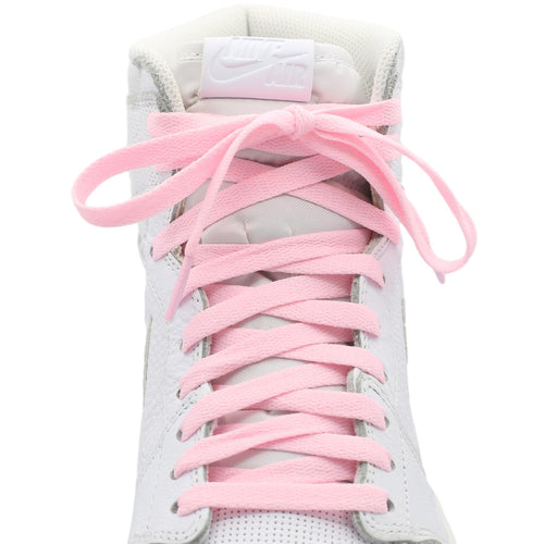 light pink travis scott air jordan 1 shoe laces