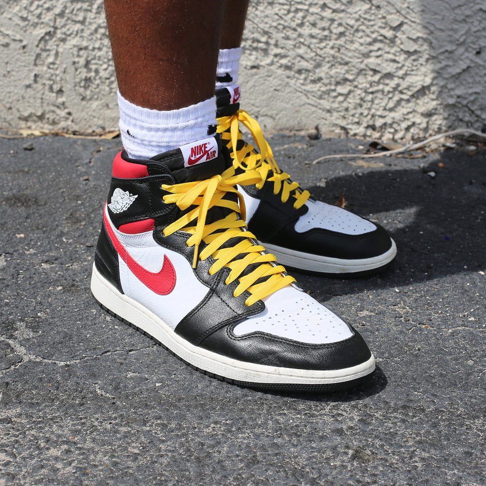 yellow union jordan 1 shoe laces