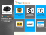 BlueRigger 4K HDMI Cable with Signal Booster (4K 60Hz, in-Wall CL3 Rated)
