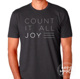 "Matthew and Megan Family Adoption Tee- ""Count It All Joy"""