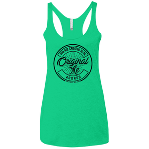 #3 (black) - Adored - NL6733 Next Level Ladies' Triblend Racerback Tank